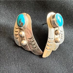 Jewelry - Vintage Turquoise & Sterling Silver Stud Earrings